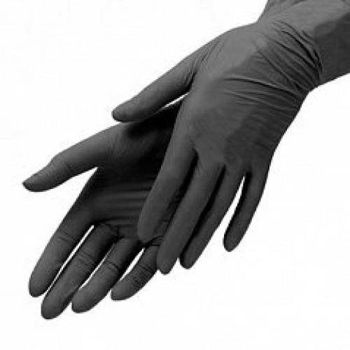 """""""benovy"""" (перчатки одноразовые, 100шт., ВИНИЛ,   черный M)"""