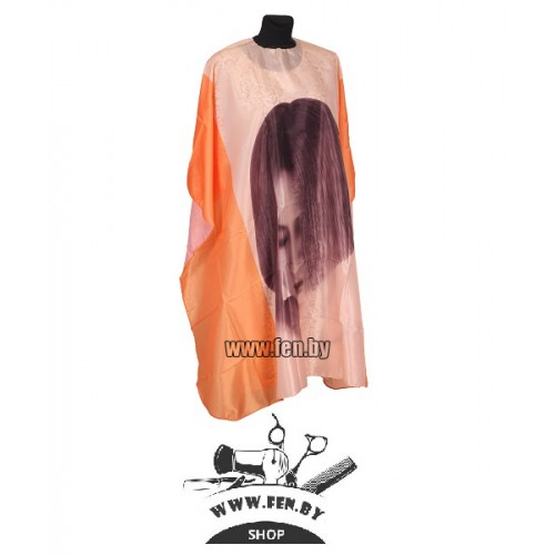 Пеньюар парикмахерский для клиента Girl оранжевый AP1A10H