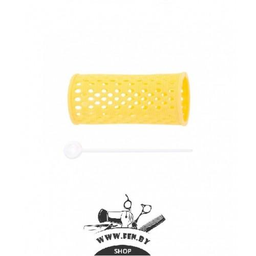 Бигуди PROFI line R-MHR-2, желтые, d30мм., 12шт.