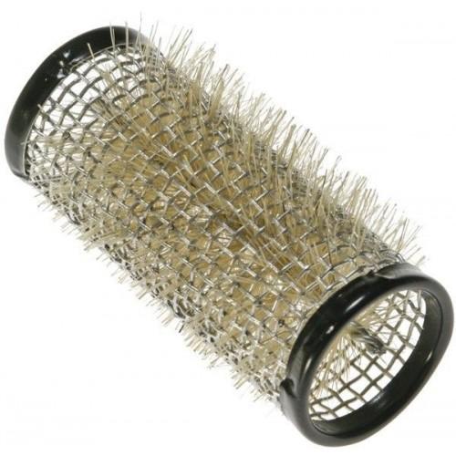 Бигуди Sibel металлические, с натуральной щетиной, d28ммт., 12шт