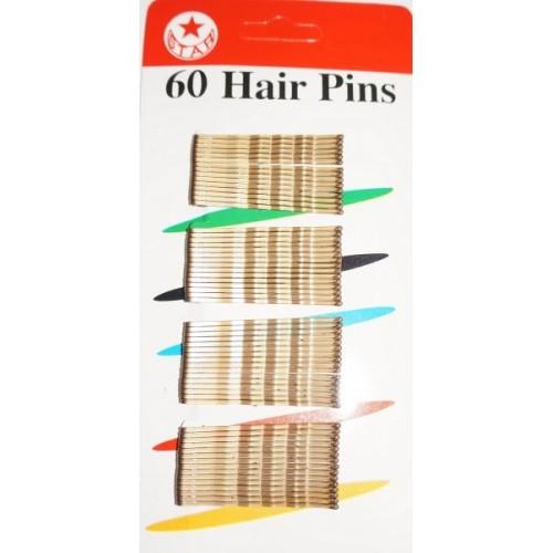 Невидимки для волос  PROFI line металлические бронзовые 60 шт.