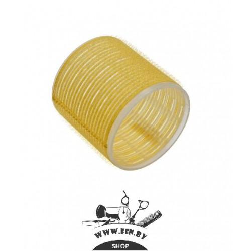 Бигуди-липучки PROFI line R-VTR-17, желтые, d65мм., 6шт.