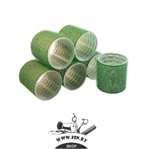 Бигуди-липучки PROFI line R-VTR-16, зеленые, d60мм., 6шт.