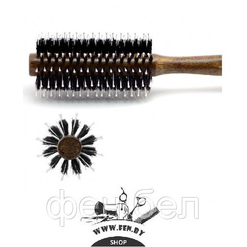 Брашинг для волос HERCULES деревянный темная щетина+нейлон d54мм