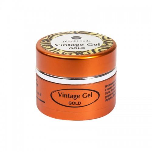 Гель-паста для чеканки Planet Nails - Vintage Gel gold  5г