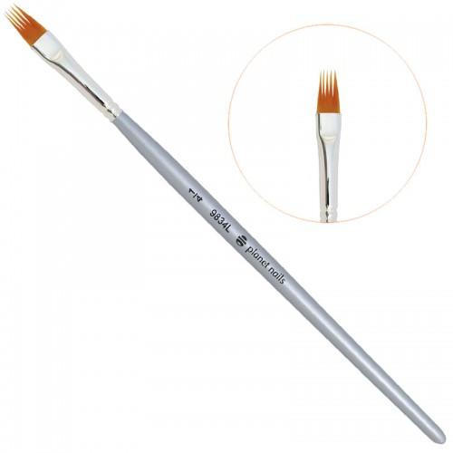 Кисть Planet Nails для дизайна ногтей веерная № 1/4 (9834L.1/4)