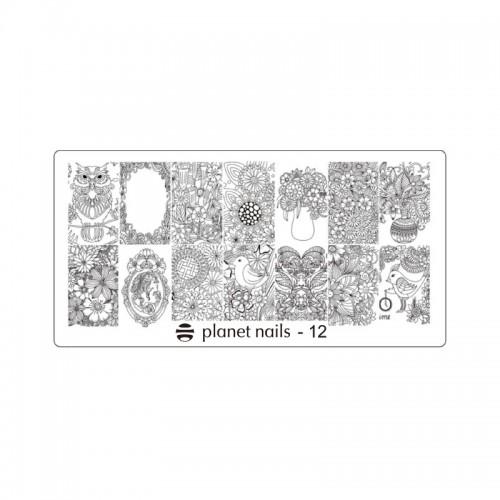 Пластина для Stamping Nail Art №12