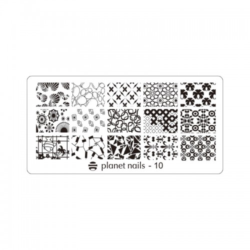 Пластина для Stamping Nail Art №10