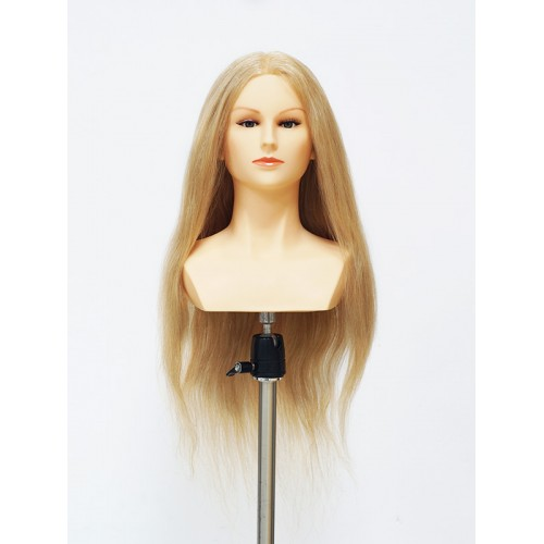 Голова OMC 100% natural WOMAN BLONDE женская, 50 см